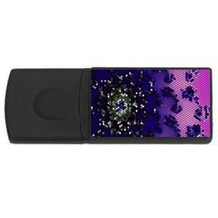 Blue Digital Fractal Usb Flash Drive Rectangular (4 Gb)