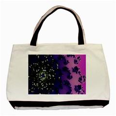 Blue Digital Fractal Basic Tote Bag