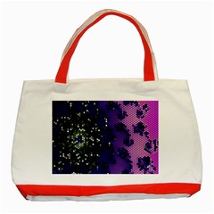 Blue Digital Fractal Classic Tote Bag (red)