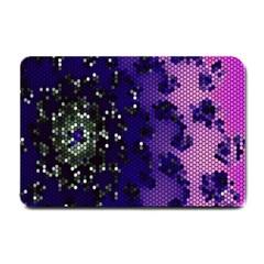 Blue Digital Fractal Small Doormat