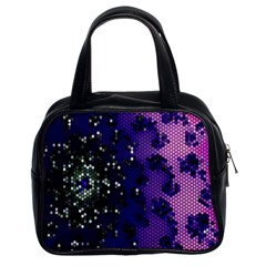 Blue Digital Fractal Classic Handbags (2 Sides)