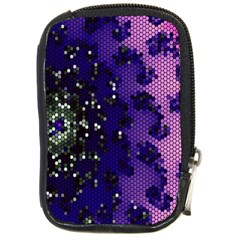 Blue Digital Fractal Compact Camera Cases