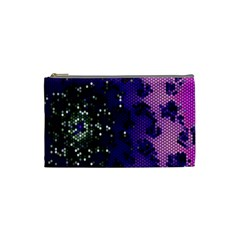 Blue Digital Fractal Cosmetic Bag (Small)