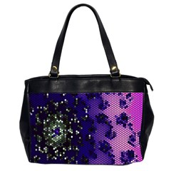 Blue Digital Fractal Office Handbags (2 Sides)