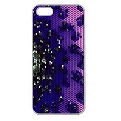 Blue Digital Fractal Apple Seamless Iphone 5 Case (clear)
