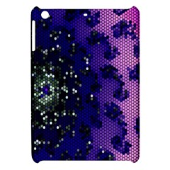 Blue Digital Fractal Apple iPad Mini Hardshell Case