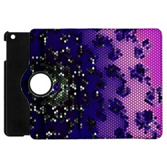 Blue Digital Fractal Apple iPad Mini Flip 360 Case