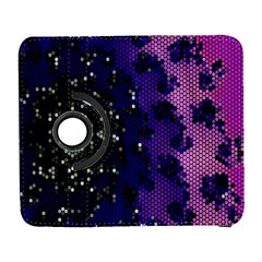 Blue Digital Fractal Galaxy S3 (flip/folio)
