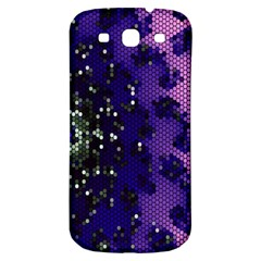 Blue Digital Fractal Samsung Galaxy S3 S Iii Classic Hardshell Back Case