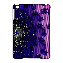 Blue Digital Fractal Apple Ipad Mini Hardshell Case (compatible With Smart Cover)