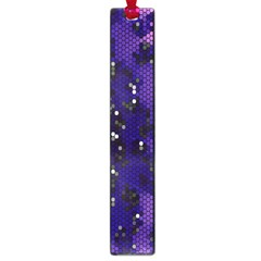 Blue Digital Fractal Large Book Marks