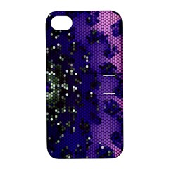 Blue Digital Fractal Apple iPhone 4/4S Hardshell Case with Stand