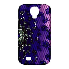 Blue Digital Fractal Samsung Galaxy S4 Classic Hardshell Case (pc+silicone)