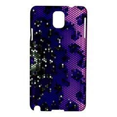 Blue Digital Fractal Samsung Galaxy Note 3 N9005 Hardshell Case