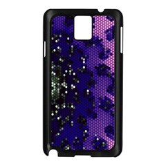 Blue Digital Fractal Samsung Galaxy Note 3 N9005 Case (Black)