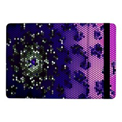 Blue Digital Fractal Samsung Galaxy Tab Pro 10 1  Flip Case