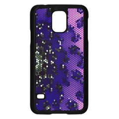 Blue Digital Fractal Samsung Galaxy S5 Case (black)