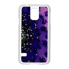 Blue Digital Fractal Samsung Galaxy S5 Case (white)