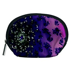 Blue Digital Fractal Accessory Pouches (medium)