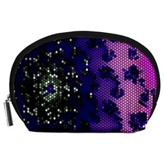 Blue Digital Fractal Accessory Pouches (large)