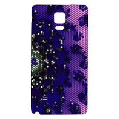 Blue Digital Fractal Galaxy Note 4 Back Case