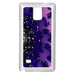 Blue Digital Fractal Samsung Galaxy Note 4 Case (White)