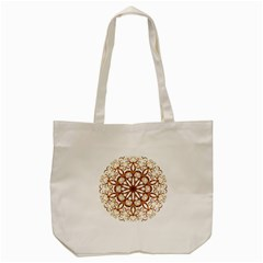 Golden Filigree Flake On White Tote Bag (cream)