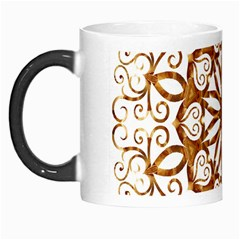Golden Filigree Flake On White Morph Mugs