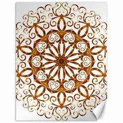 Golden Filigree Flake On White Canvas 12  x 16
