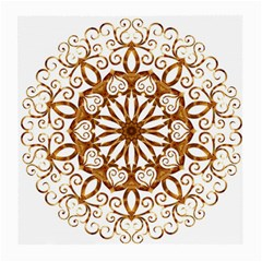 Golden Filigree Flake On White Medium Glasses Cloth (2-Side)