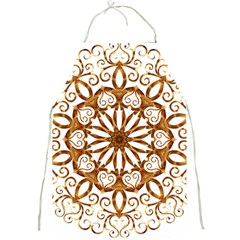 Golden Filigree Flake On White Full Print Aprons