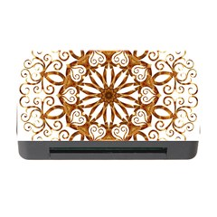 Golden Filigree Flake On White Memory Card Reader With Cf