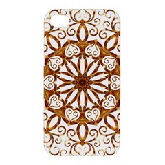 Golden Filigree Flake On White Apple Iphone 4/4s Hardshell Case