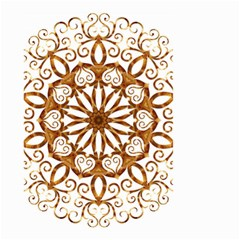 Golden Filigree Flake On White Small Garden Flag (Two Sides)