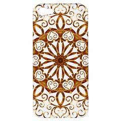 Golden Filigree Flake On White Apple Iphone 5 Hardshell Case