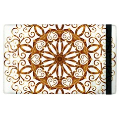 Golden Filigree Flake On White Apple Ipad 2 Flip Case