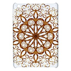Golden Filigree Flake On White Apple Ipad Mini Hardshell Case