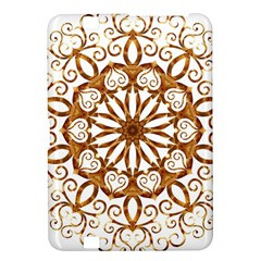 Golden Filigree Flake On White Kindle Fire Hd 8 9