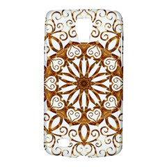 Golden Filigree Flake On White Galaxy S4 Active