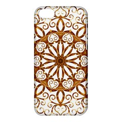 Golden Filigree Flake On White Apple iPhone 5C Hardshell Case