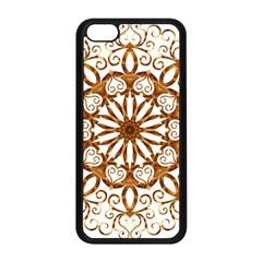 Golden Filigree Flake On White Apple iPhone 5C Seamless Case (Black)