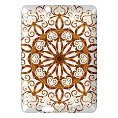 Golden Filigree Flake On White Kindle Fire Hdx Hardshell Case
