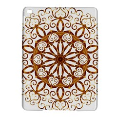 Golden Filigree Flake On White Ipad Air 2 Hardshell Cases