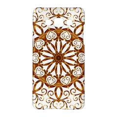 Golden Filigree Flake On White Samsung Galaxy A5 Hardshell Case