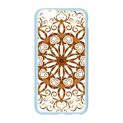 Golden Filigree Flake On White Apple Seamless iPhone 6/6S Case (Color)