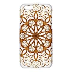 Golden Filigree Flake On White iPhone 6/6S TPU Case