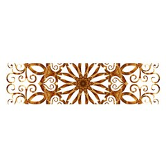 Golden Filigree Flake On White Satin Scarf (oblong)