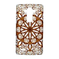 Golden Filigree Flake On White LG G4 Hardshell Case