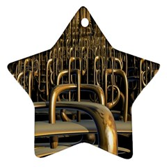 Fractal Image Of Copper Pipes Ornament (star)