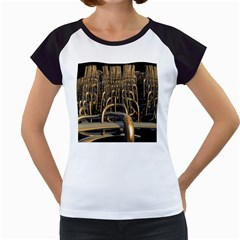 Fractal Image Of Copper Pipes Women s Cap Sleeve T